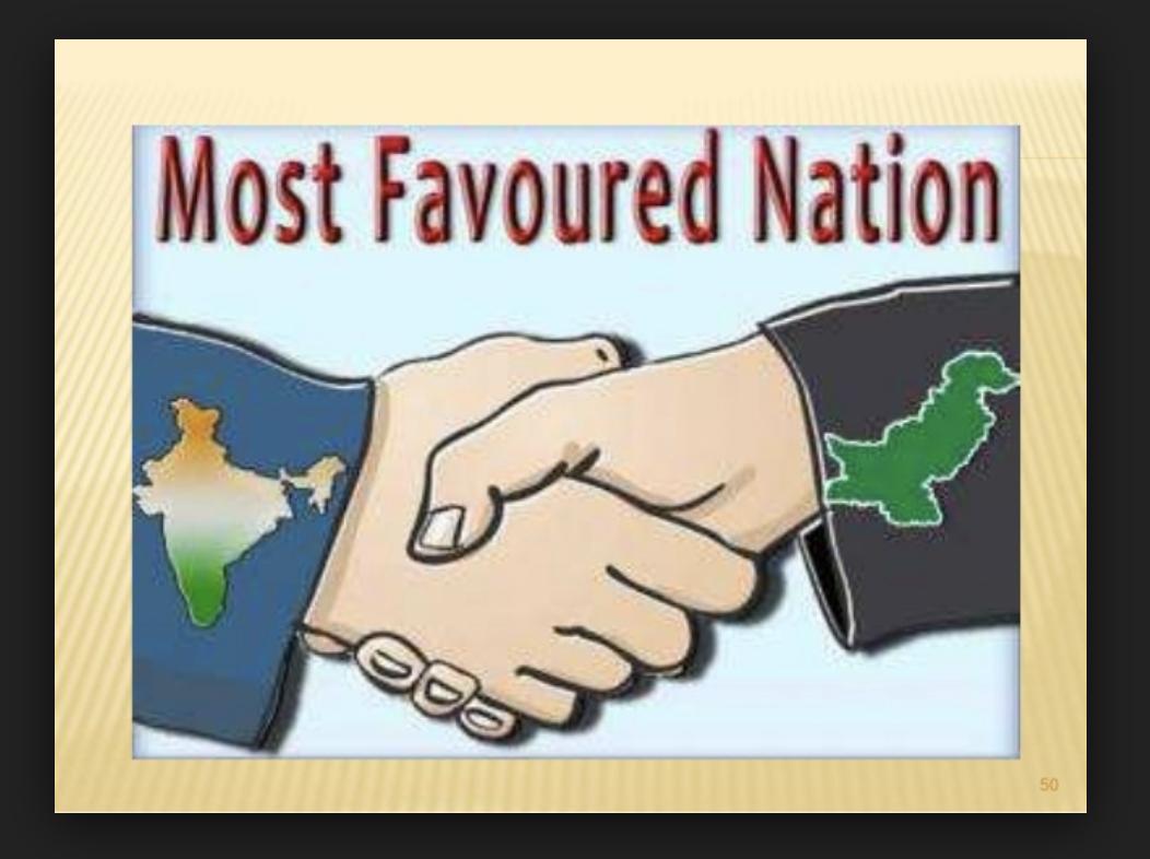 Pak most favoured nation